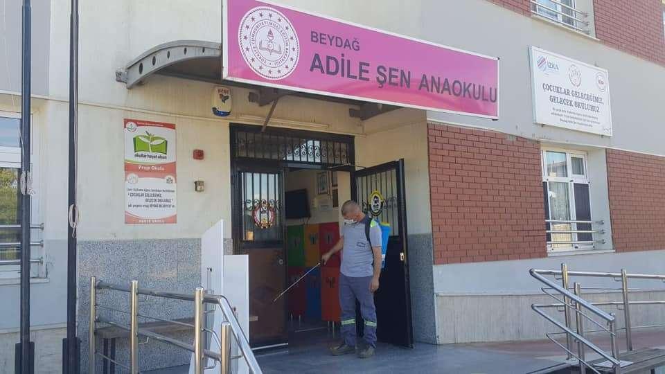 Beydağ'da okullar dezenfekte ediliyor!