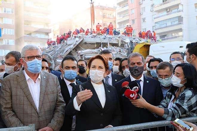 """AKŞENER VE """"İYİ""""LERDEN DEPREM BÖLGESİNE ZİYARET"""
