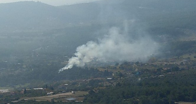 Yakaköy Mezarlığı yakınında korkutan yangın
