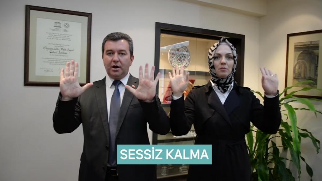 BERGAMA BELEDİYESİ'NDEN 'KADINA ŞİDDETE'FARKINDALIK VİDEOSU