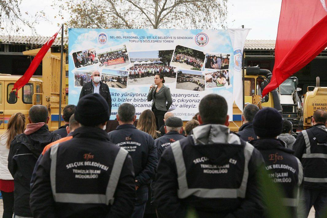 EFES SELÇUK BELEDİYESİ'NDE TOPLU İŞ SÖZLEŞMESİ İMZALANDI