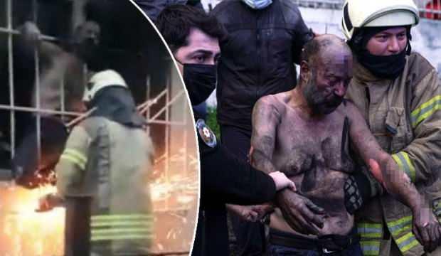 İSTANBUL'DA DEHŞET ANLARI! DEMİRLERİ KESEREK KURTARDILAR
