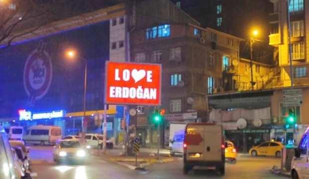 """""""STOP ERDOĞAN"""" SKANDALINA TÜRKİYE'DEN """"LOVE ERDOĞAN"""" YANITI"""