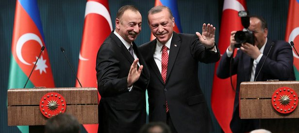 CUMHURBAŞKANI ERDOĞAN, AZERBAYCAN CUMHURBAŞKANI ALİYEV İLE GÖRÜŞTÜ