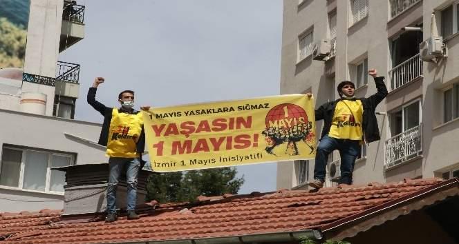 KENDİSİNİ ÇATIDAN İNDİRMEK İSTEYEN POLİSE 'BELKİ COVİD'SİN GELME' DİYE BAĞIRDI