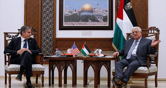 ABD Dışişleri Bakanı Blinken, Filistin Devlet Başkanı Abbas'la bir araya geldi