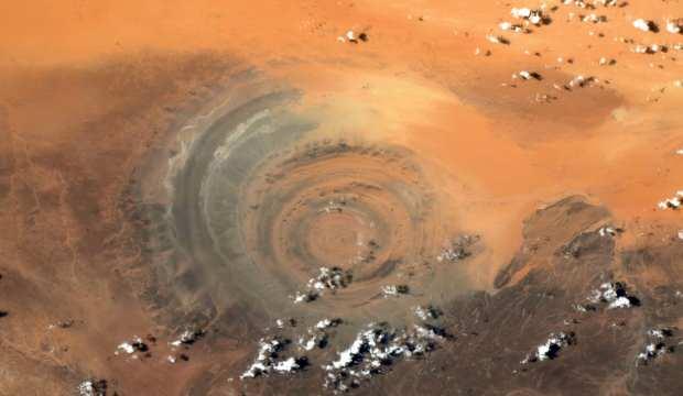 Fransız astronot Pesquet, uzaydan Sahra Çölü'nün fotoğrafını paylaştı