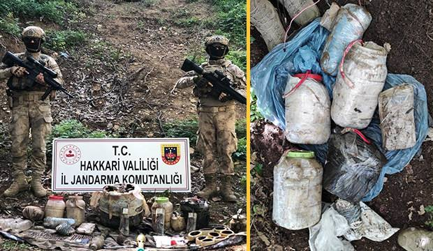 HAKKARİ'DE PKK'NIN İNLERİNDE ÇOK SAYIDA SİLAH VE MÜHİMMAT ELE GEÇİRİLDİ
