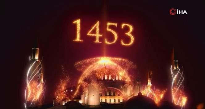 İstanbul'un Fethi'nin 568. yıldönümü ışık gösterileriyle kutlandı