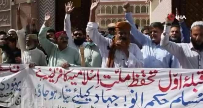 Pakistan'da Filistin'e destek gösterisi düzenlendi