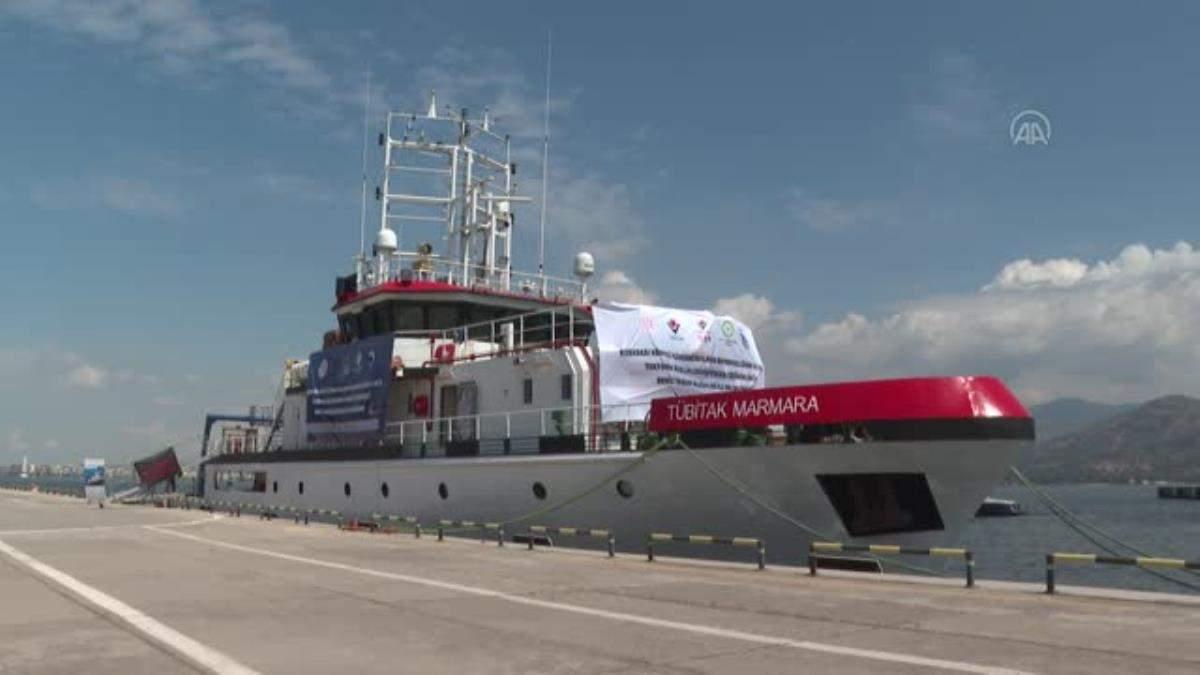 TÜBİTAK MAM Gemisi için Alsancak Limanı nda uğurlama töreni (2)
