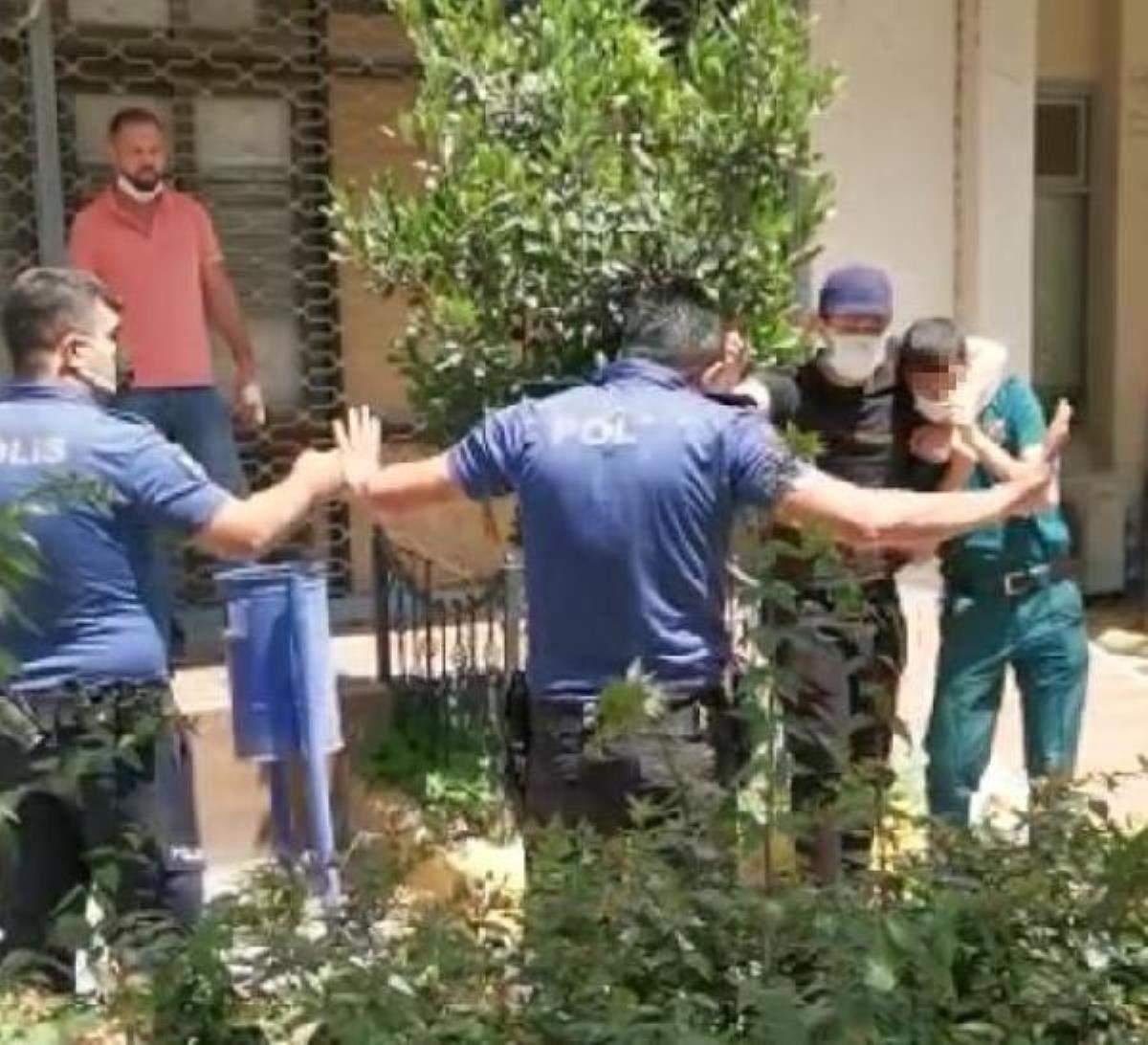 Engelli memuru bıçakla rehin alan şüpheli, tutuklandı