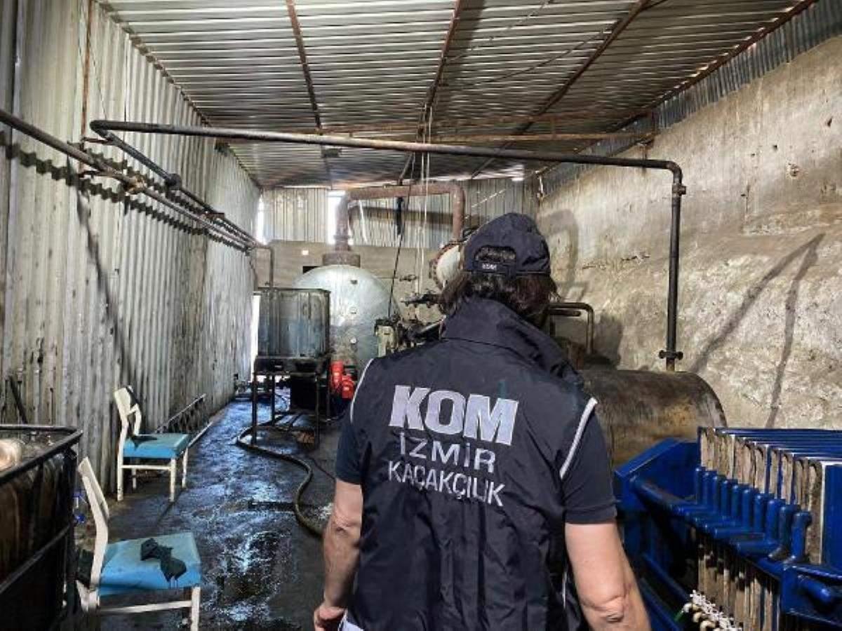 İzmir de 16 bin 600 litre kaçak mazot ele geçirildi