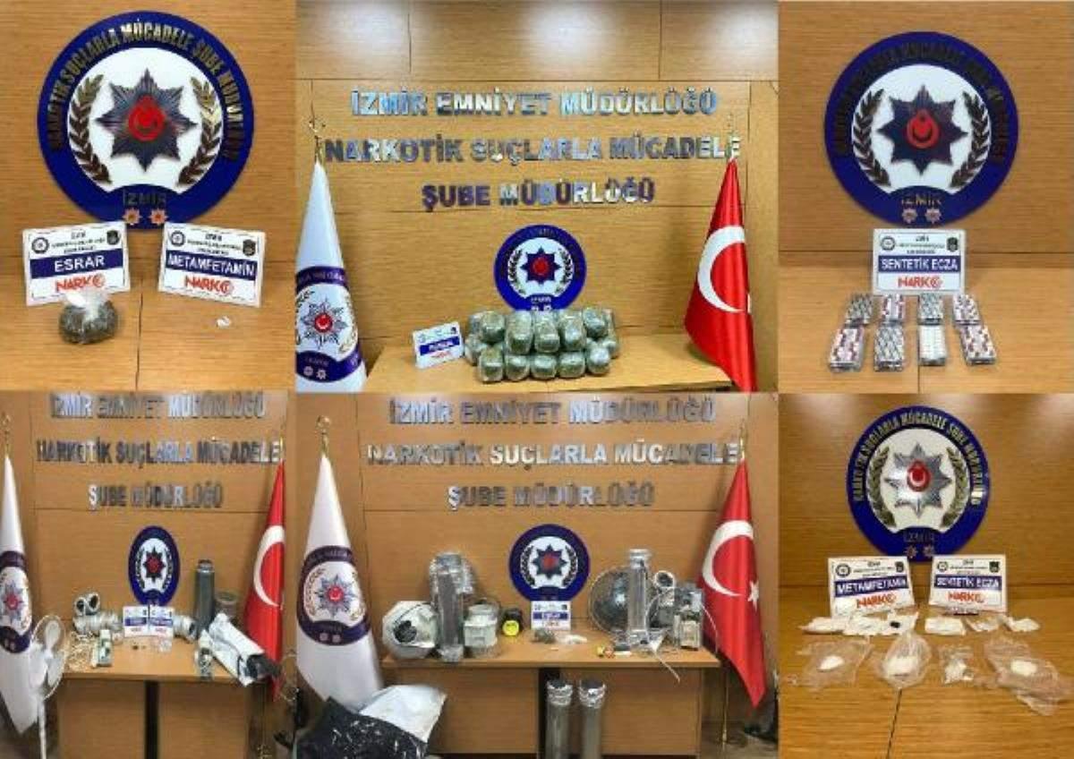 Son dakika gündem: İzmir de 1 haftadaki uyuşturucu operasyonlarında 20 tutuklama