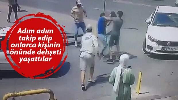 Adım adım takip edip onlarca kişinin önünde gasp etmeye çalışmışlardı! İş insanı dehşet anlarını CNN Türk'e anlattı