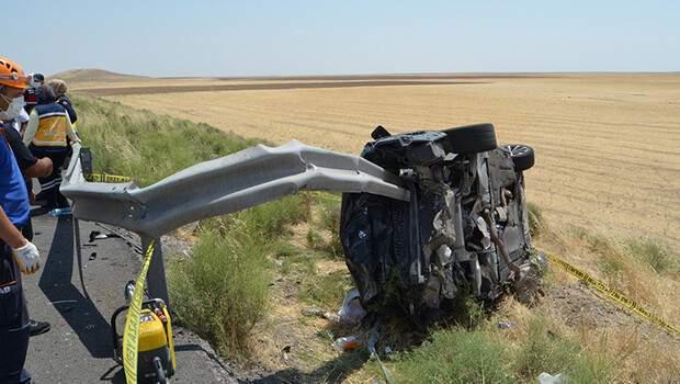 Aksaray'da korkunç kaza! Bariyere ok gibi saplandı