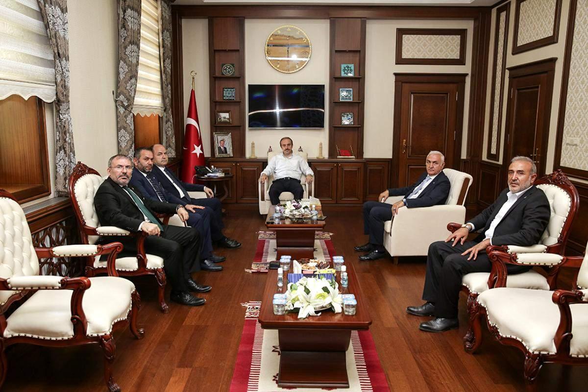 Anavatan Partisi Genel Başkanı İbrahim Çelebi Vali Cüneyt Epcim i Ziyaret Etti