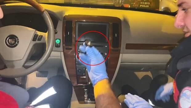 Beşiktaş'ta zırhlı otomobilde şaşkına çeviren düzenek! Mıknatısla açılıyor…