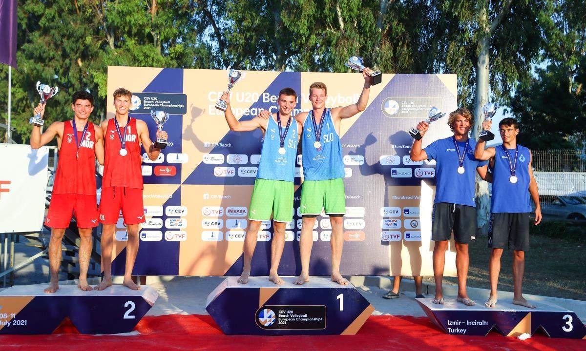 CEV 20 Yaş Altı Avrupa Plaj Voleybolu Şampiyonası İzmir de tamamlandı