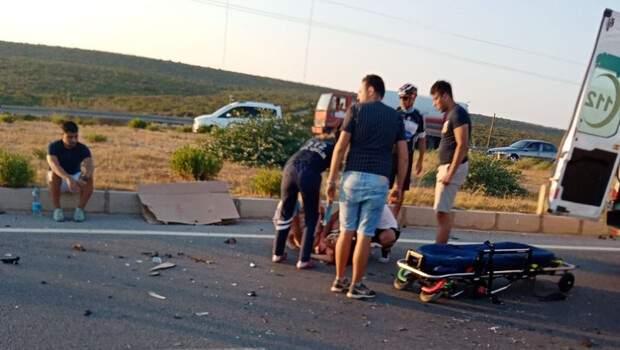 Didim'de iki otomobil çarpıştı: 1 ölü, 5 yaralı