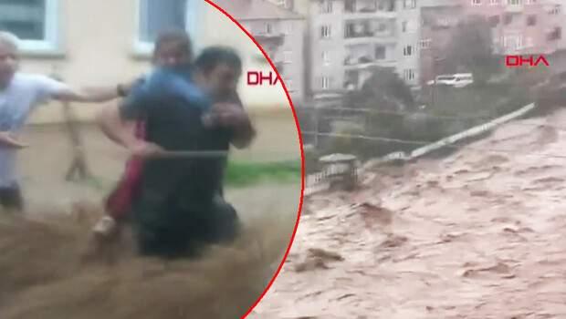 Görüntüler Rize'den… Az önce kaydedildi! Bayram zehir oldu