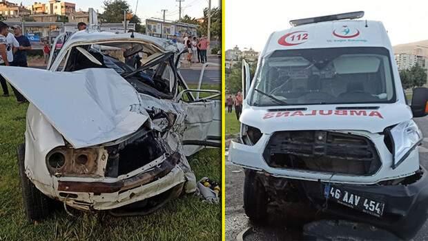 Kahramanmaraş'ta ambulans kazası! 1 ölü, 3 yaralı