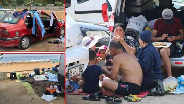 Plaj ve otoparklarda yer kalmadı… Çareyi böyle buldular!