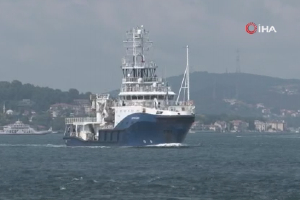 Rus askeri römorkörü İstanbul Boğazı'ndan geçti