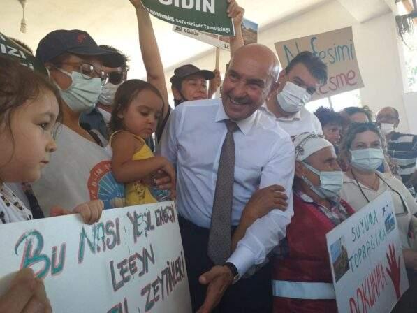 Seferihisar da jeotermal enerji santrali projesi için düzenlenen toplantı, protestolar nedeniyle yapılamadı