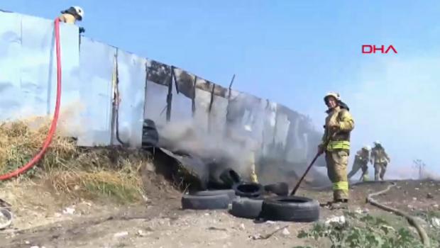 Son dakika: Avcılar'da lastik deposunda yangın