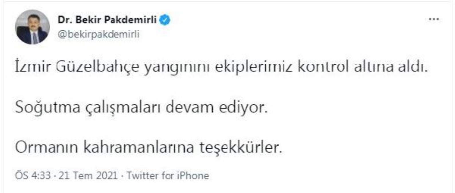 Son dakika: İzmir de orman yangını (3)