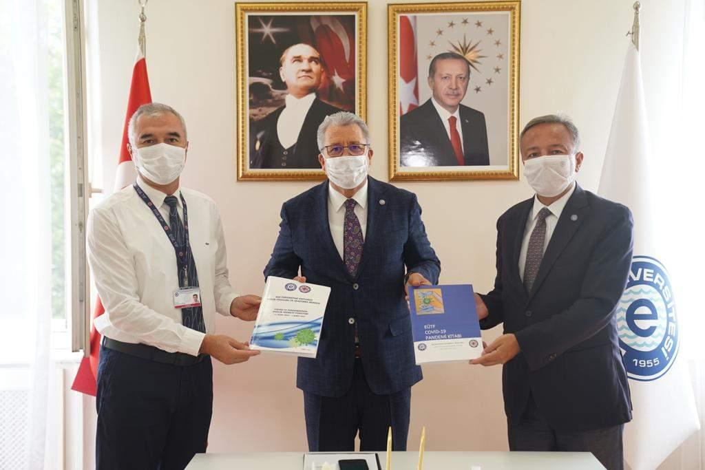 EÜTF ve EÜTF Hastanesinin Covid-19 Pandemi Raporu kitaplaştırıldı