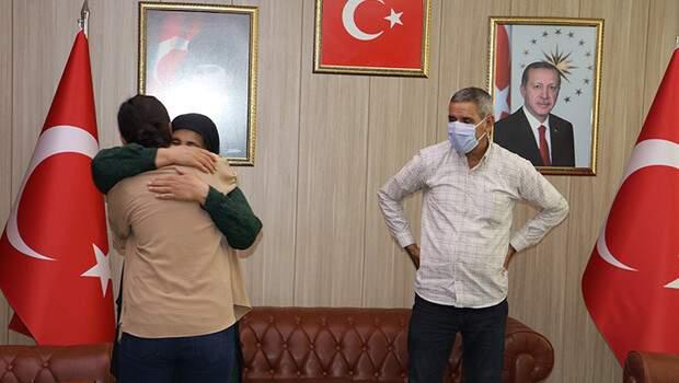 İkna yoluyla teslim olan PKK'lı aileleriyle buluşturuldu