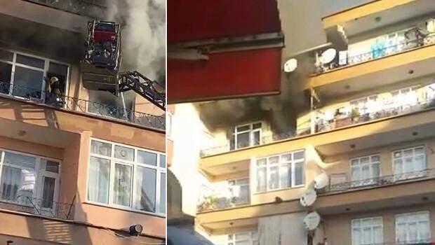 Bağcılar'da yangın paniği: Kapıların zillerine bastık