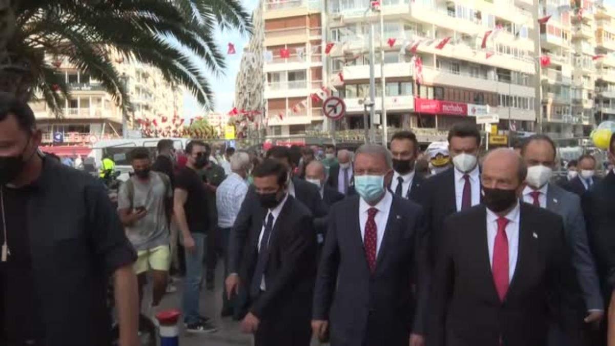 Bakan Akar ve KKTC Cumhurbaşkanı Tatar, İzmir Airshow etkinliğine katıldı