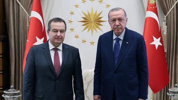 Cumhurbaşkanı Erdoğan, Sırbistan Ulusal Meclis Başkanı Daçiç'i kabul etti