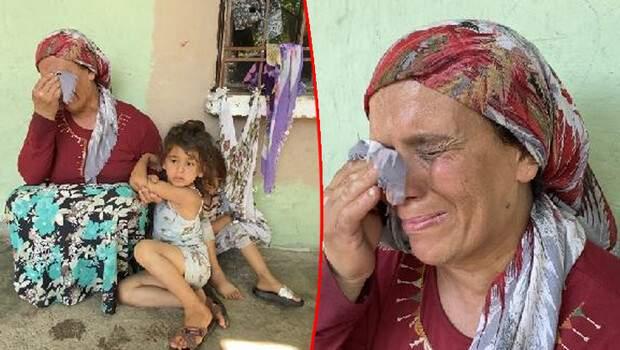 Evi yandı, gözyaşları içinde yardım istedi