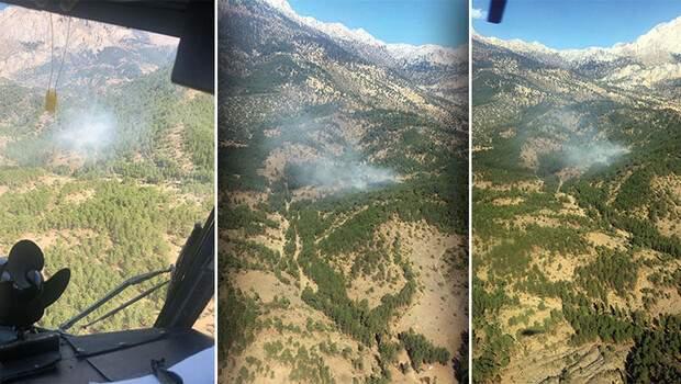 Isparta'da çıkan orman yangını söndürüldü