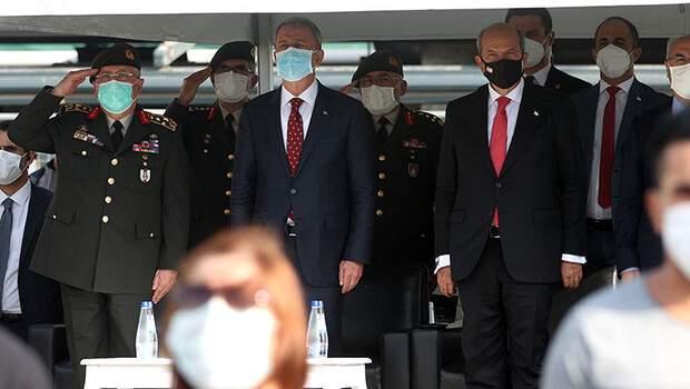 KKTC Cumhurbaşkanı Tatar ve Bakanı Akar, 'İzmir Airshow'u izledi