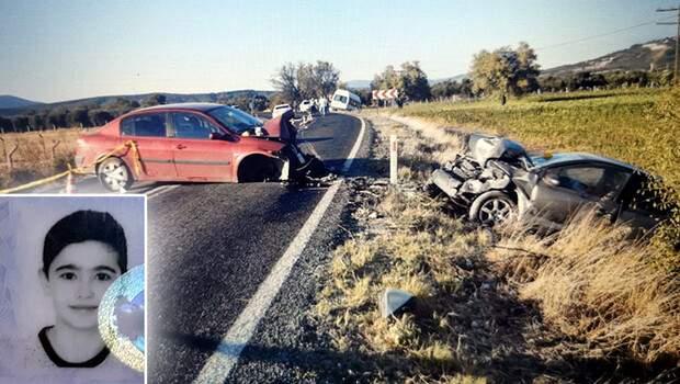 Manisa'da feci kaza! 3 araç karıştı: 1 çocuk öldü, 6 kişi yaralandı