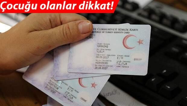 Son dakika… 15 yaş altı çocukların kimlik kartı başvuruları e-devlet üzerinden yapılacak