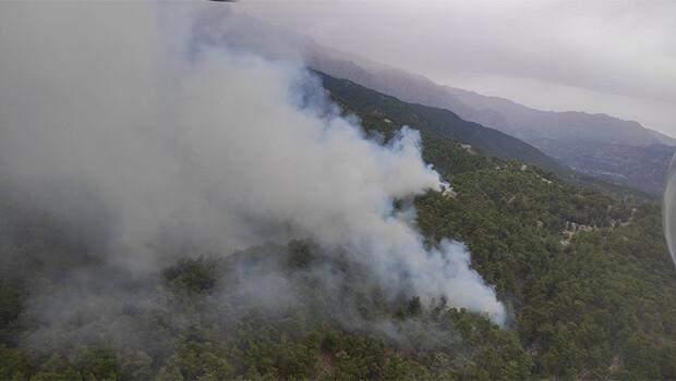 Son dakika… Antalya Manavgat'ta aynı noktada yine yangın