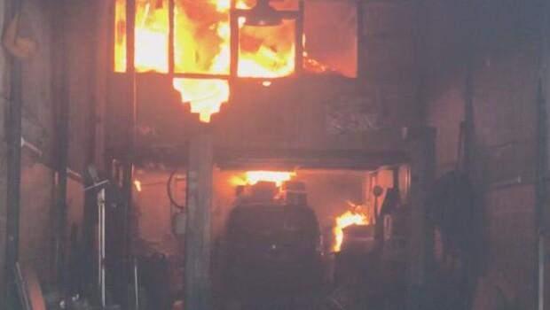 Son dakika… Şişli'de otomobil tamirhanesinde yangın