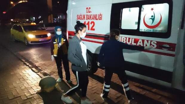 Taksi ücertini ödemek istemeyen yolcu, polisleri görünce korona olduğunu söyledi