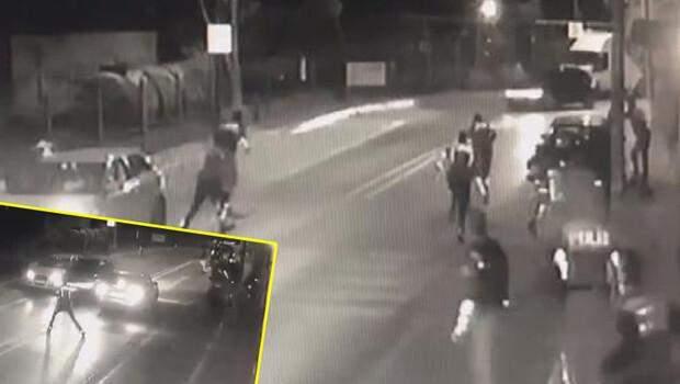 Avcılar'da polise silahlı saldırı anı kamerada